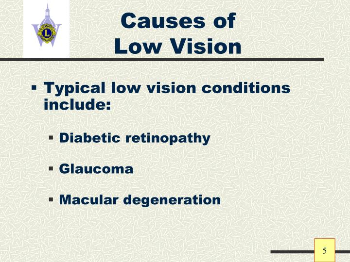 Causes of Low Vision