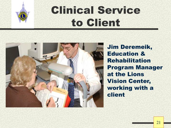 Clinical Service to Client