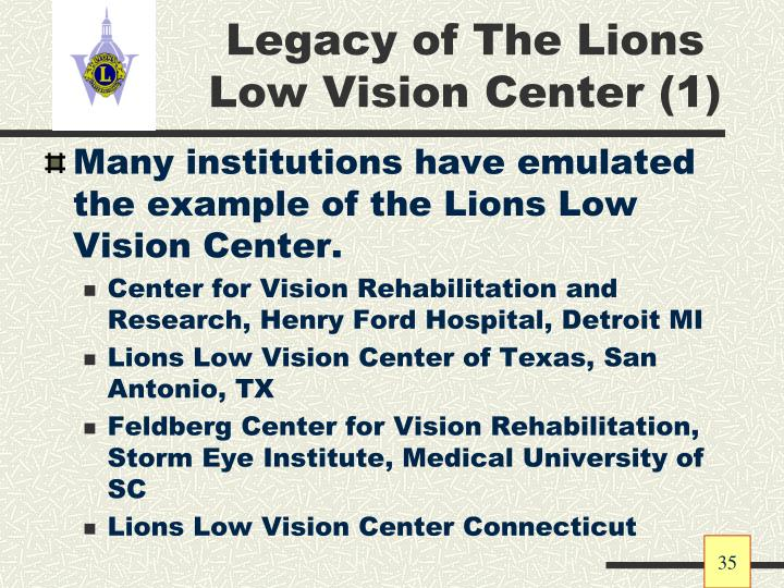 Legacy of The Lions Low Vision Center (1)