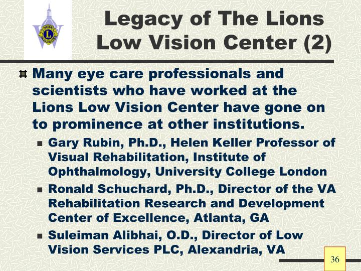 Legacy of The Lions Low Vision Center (2)