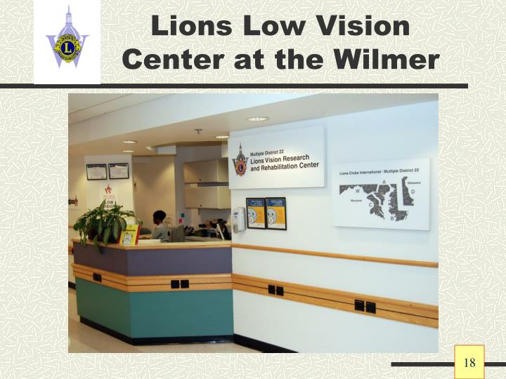 Lions Low Vision Center at the Wilmer