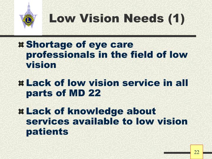 Low Vision Needs (1)