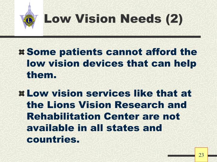 Low Vision Needs (2)
