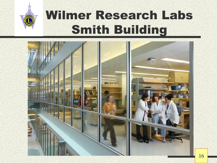 Wilmer Research Labs Smith Building