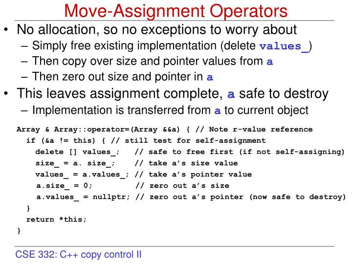 Move-Assignment Operators