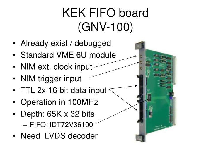 KEK FIFO board