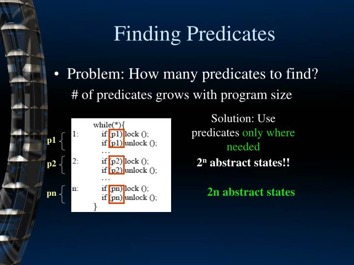 Finding Predicates