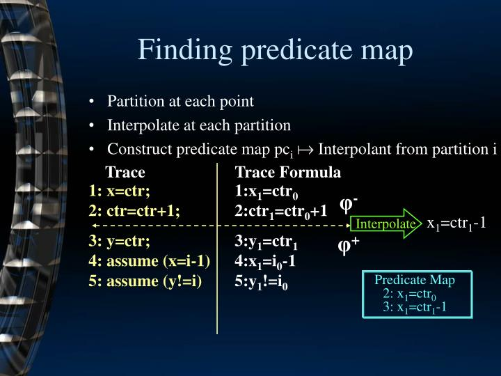 Finding predicate map