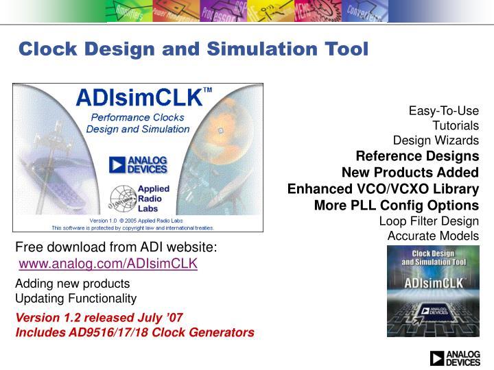 Clock Design and Simulation Tool
