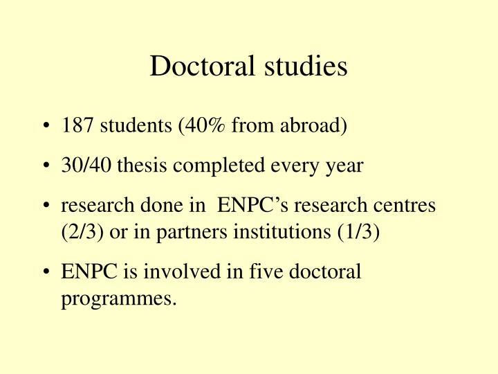Doctoral studies