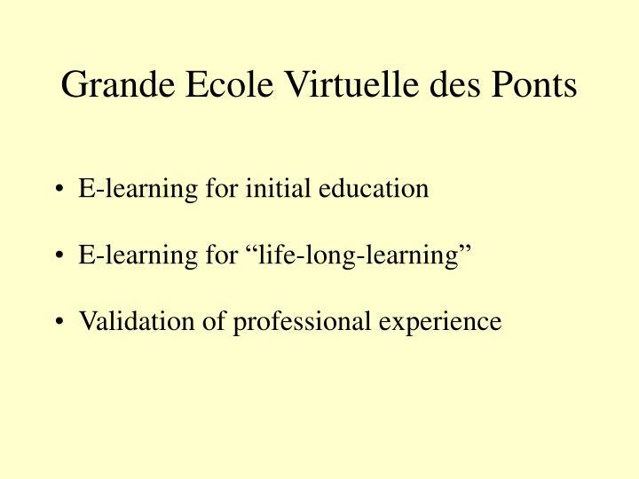 Grande Ecole Virtuelle des Ponts
