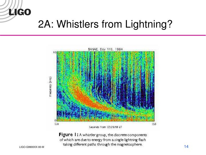 2A: Whistlers from Lightning?