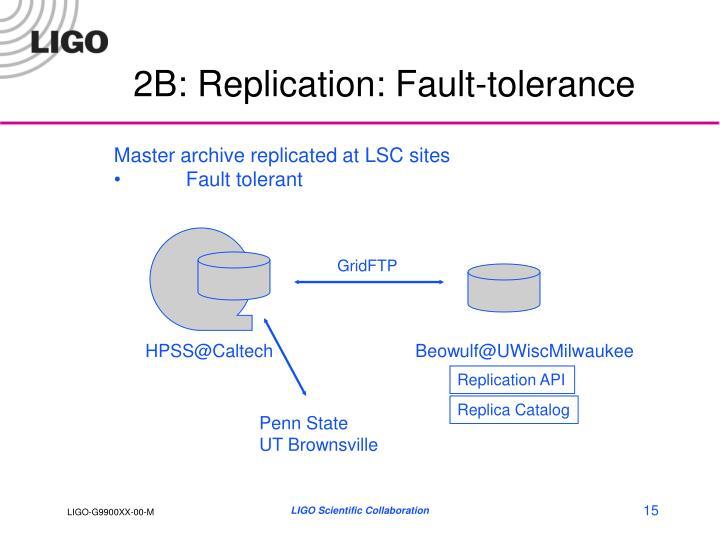 2B: Replication: Fault-tolerance
