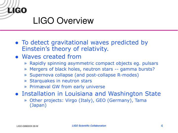LIGO Overview