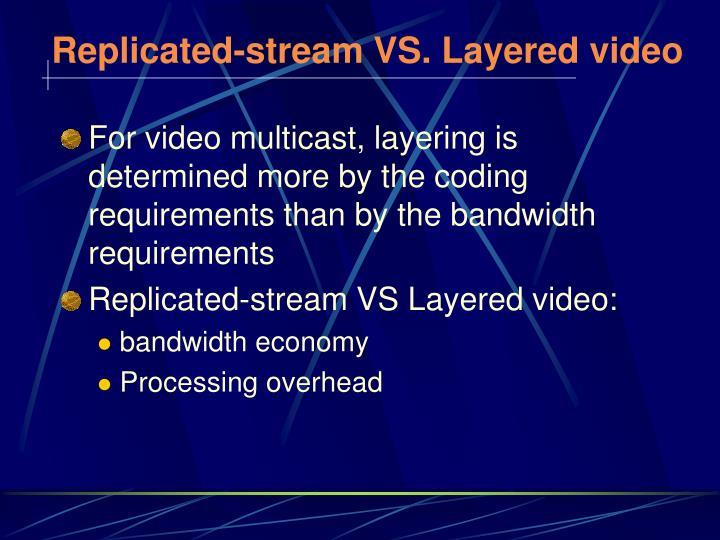 Replicated-stream VS. Layered video