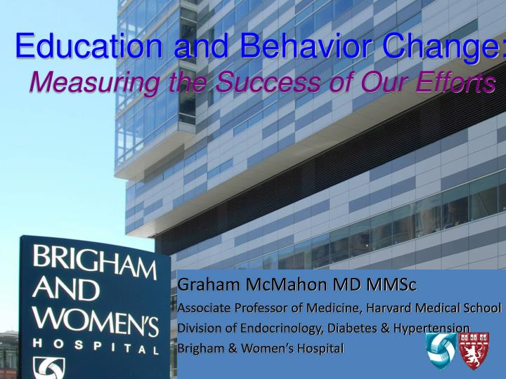 education and behavior change measuring the success of our efforts