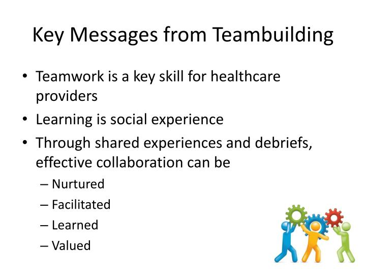 Key Messages from Teambuilding