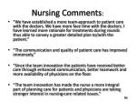 nursing comments