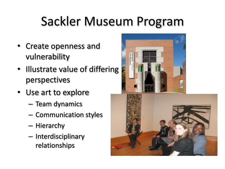 Sackler Museum Program