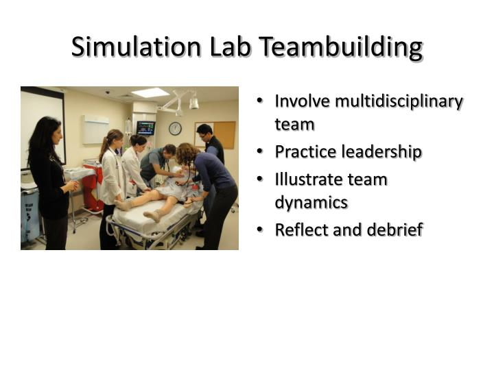 Simulation Lab Teambuilding