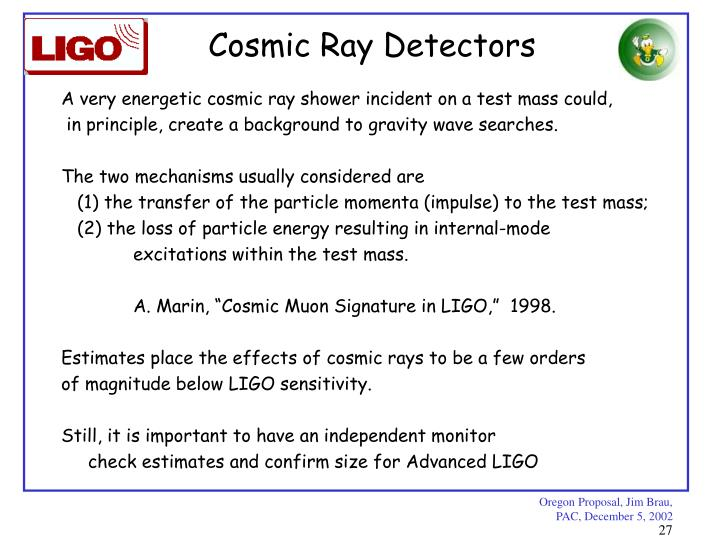Cosmic Ray Detectors
