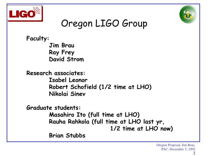 Oregon LIGO Group