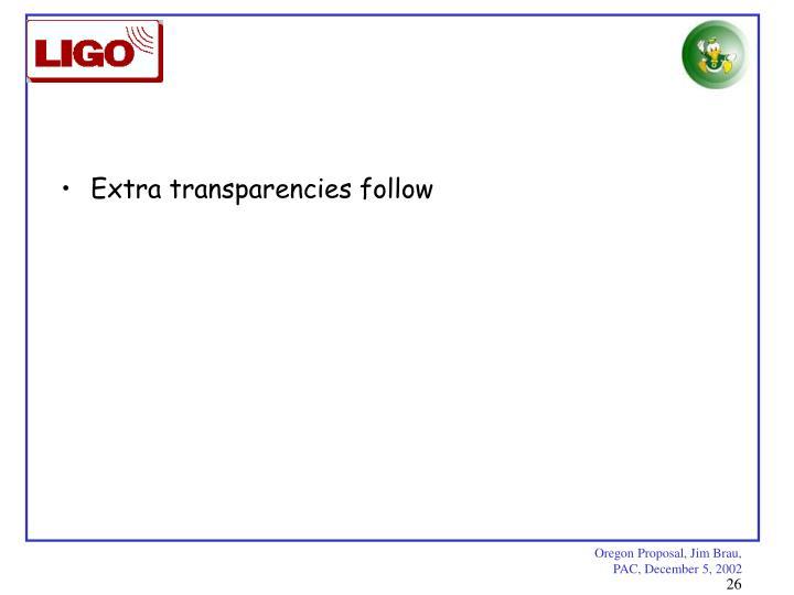 Extra transparencies follow