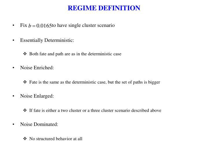 REGIME DEFINITION