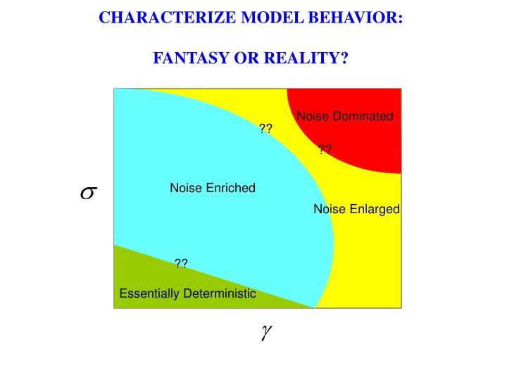 CHARACTERIZE MODEL BEHAVIOR: