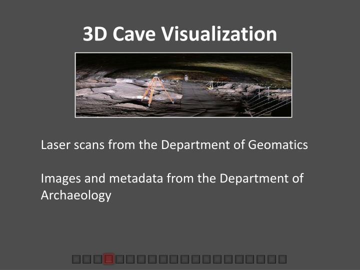 3D Cave Visualization