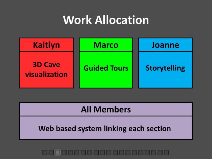 Work Allocation
