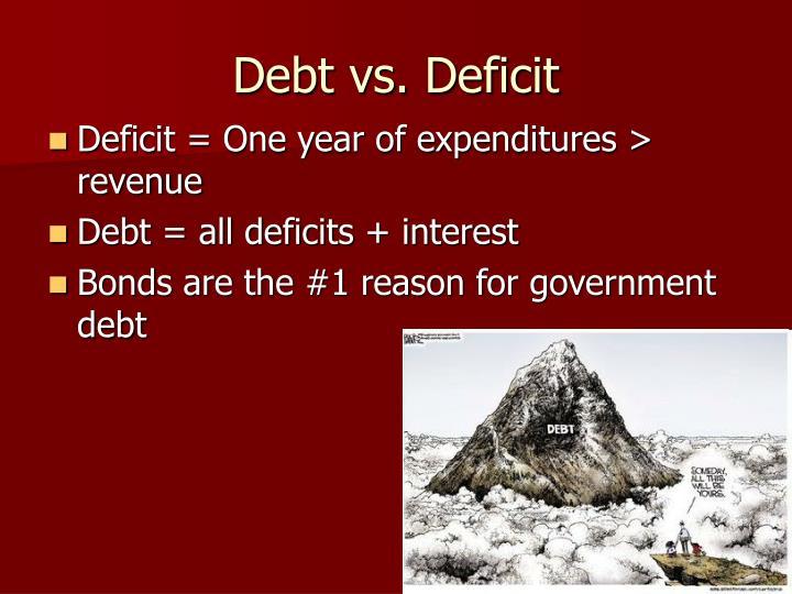 Debt vs. Deficit