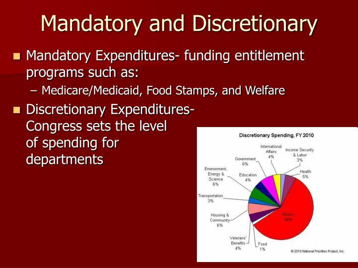 Mandatory and Discretionary