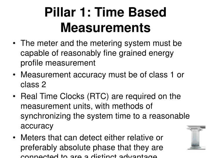 Pillar 1: Time Based Measurements
