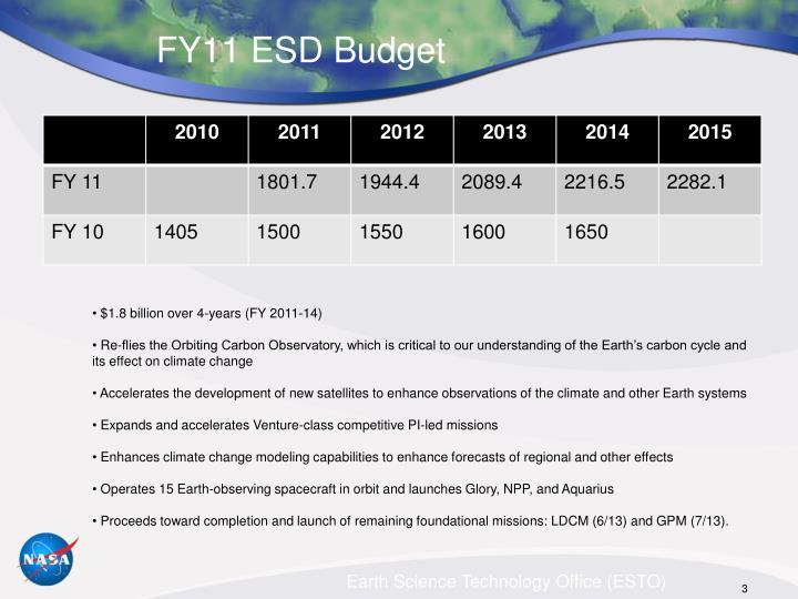 FY11 ESD Budget