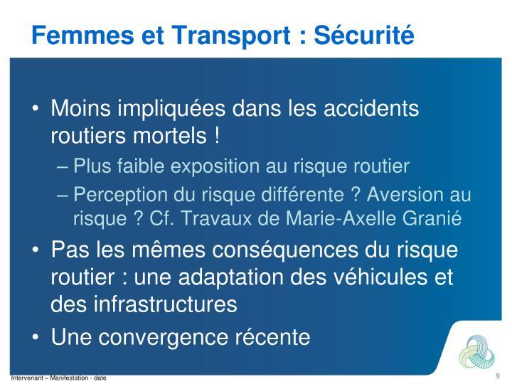 Femmes et Transport : Sécurité