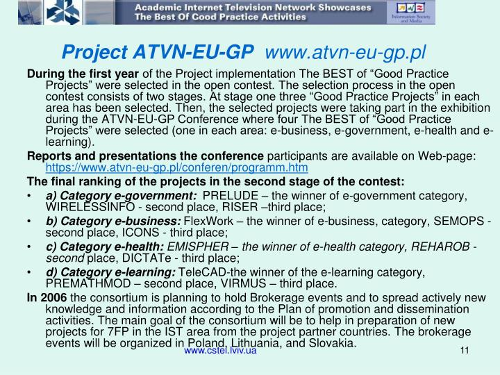 Project ATVN-EU-GP