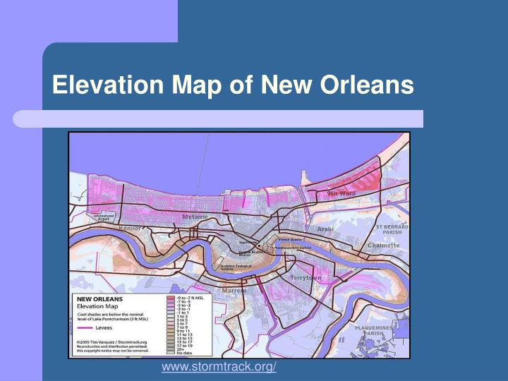 Elevation Map of New Orleans