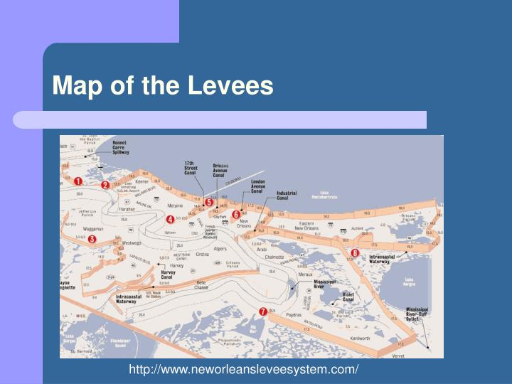 Map of the Levees