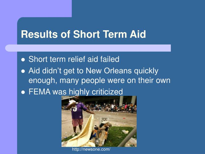 Results of Short Term Aid