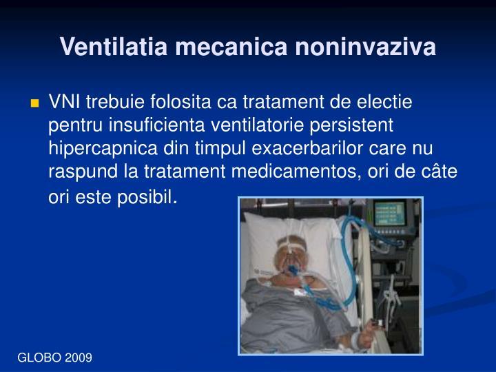 Ventilatia mecanica noninvaziva