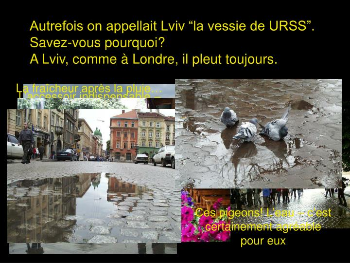 """Autrefois on appellait Lviv """"la vessie de URSS""""."""