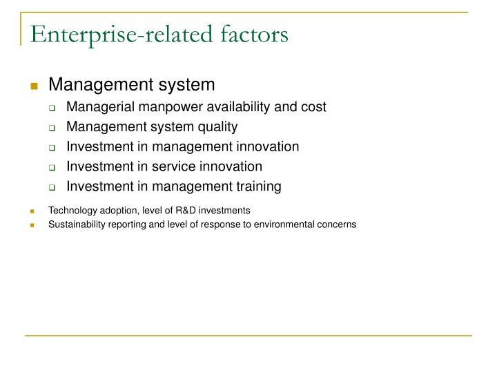 Enterprise-related factors