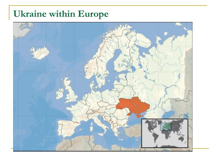 Ukraine within Europe
