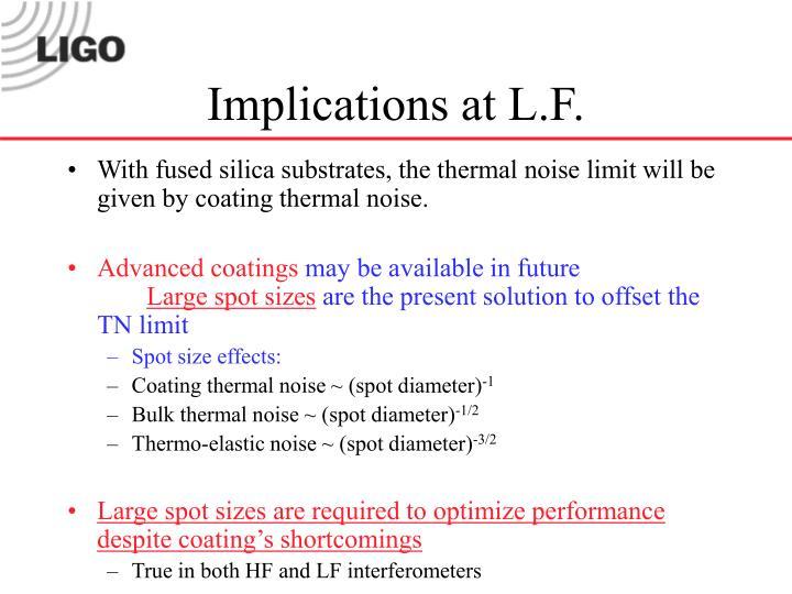 Implications at L.F.