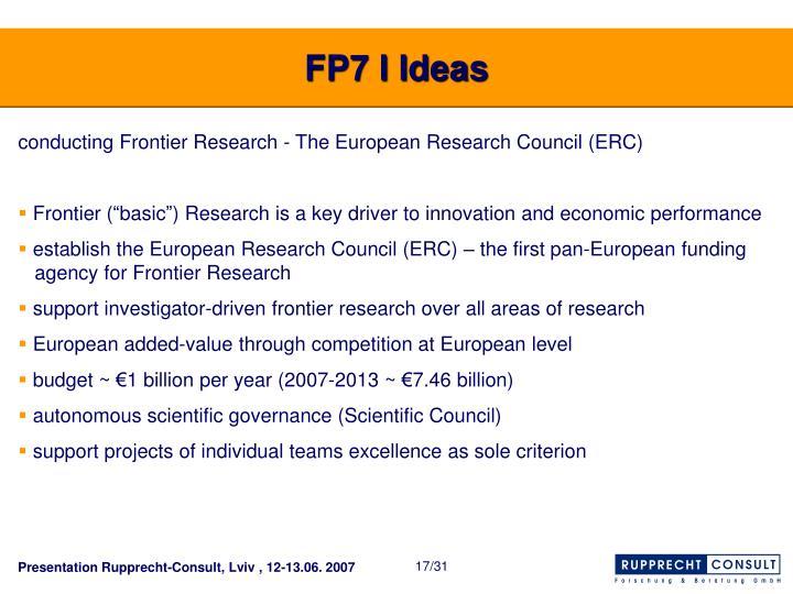 FP7 I Ideas