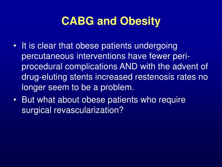 CABG and Obesity