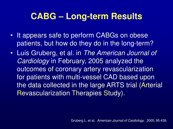 CABG – Long-term Results