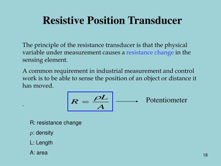 Resistive Position Transducer