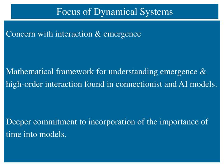Focus of Dynamical Systems